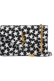 Monogramme Envelope small printed textured-leather shoulder bag