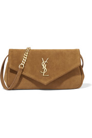 Monogramme Envelope small suede shoulder bag