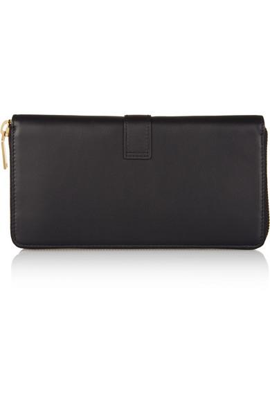 Saint Laurent | YSL Line leather wallet | NET-A-PORTER.COM