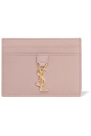 Monogramme leather cardholder