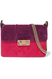 Lanvin Ji Ji small color-block suede shoulder bag
