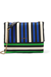Lanvin Sugar mini striped satin shoulder bag