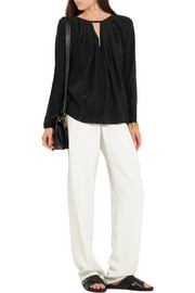 Emilio Pucci Gathered silk crepe de chine blouse