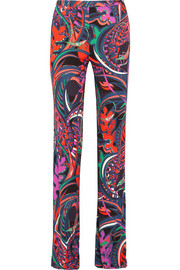 Printed jersey wide-leg pants