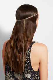 Australis Halo gold-tone crystal headband