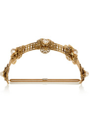 Martina gold-tone faux pearl headband