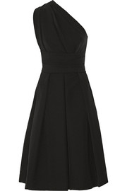 Athena one-shoulder stretch-crepe dress
