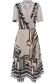 Samuel printed silk-georgette dress
