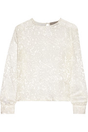 Preen by Thornton Bregazzi Devoré-satin top