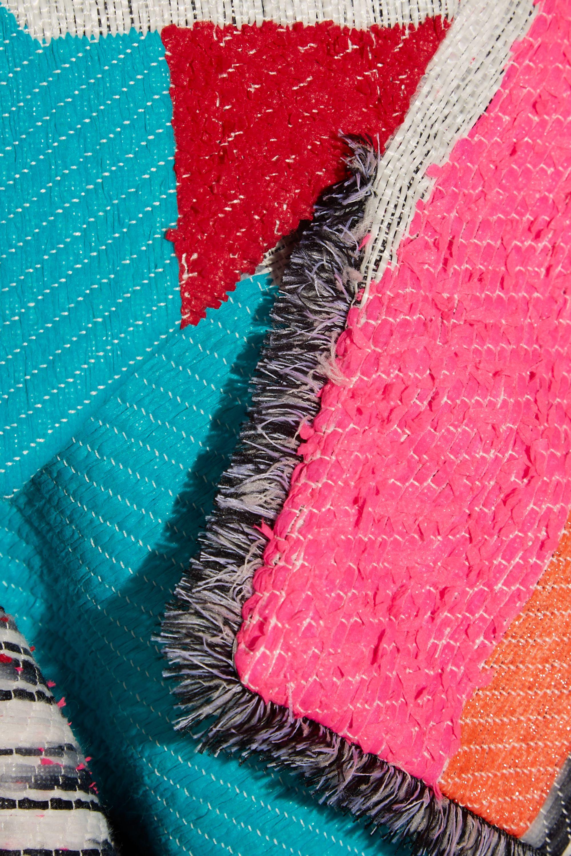 Roksanda Marles patchwork woven coat