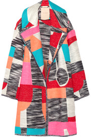 Marles patchwork woven coat