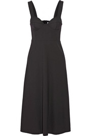Charm stretch-crepe dress