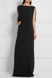 Chalayan Cape-effect crepe maxi dress