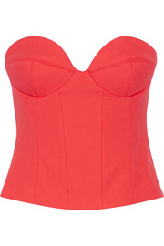 Signature stretch-crepe bustier top