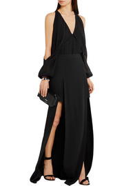 Chalayan Split-front crepe maxi skirt
