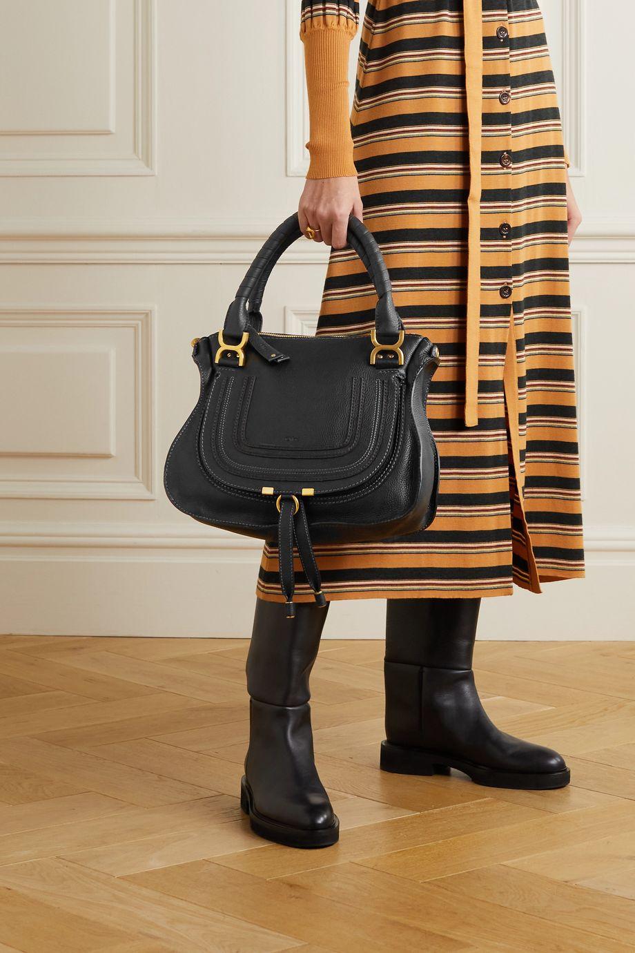 Chloé Sac porté épaule en cuir texturé Marcie Medium