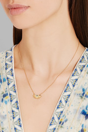 IAM by Ileana Makri Half Sun gold-plated cubic zirconia necklace