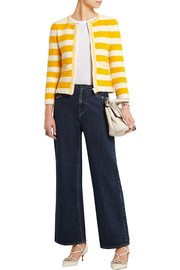Sonia Rykiel Striped bouclé-knit jacket