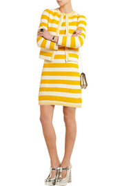 Sonia Rykiel Striped bouclé-knit mini dress