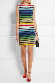 Sonia Rykiel Striped cotton-blend terry mini dress