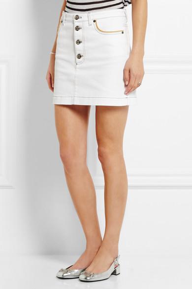 Sonia Rykiel. Stretch-denim mini skirt