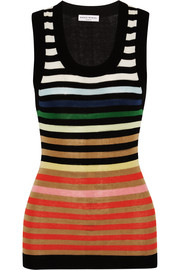 Sonia Rykiel Striped cotton and silk-blend tank