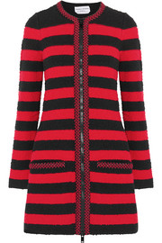 Sonia Rykiel Beaded striped stretch-bouclé coat