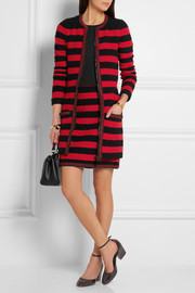 Sonia Rykiel Embellished striped stretch-bouclé coat