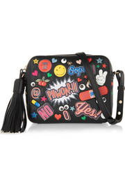 All Over Stickers leather shoulder bag