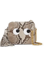 Eyes python shoulder bag