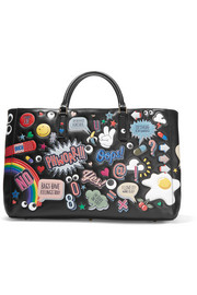 Ebury Maxi All Over Stickers leather tote