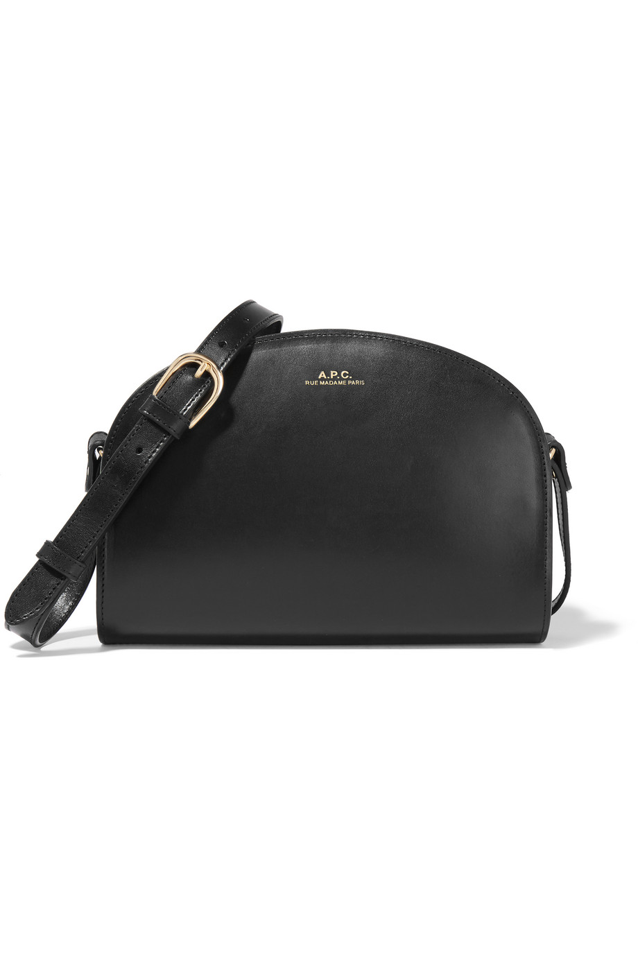 Sac Demi-Lune Leather Shoulder Bag, A.P.C. Atelier De Production Et De Création, Black, Women's