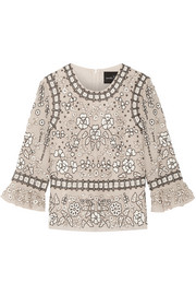 Embellished chiffon top