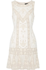Needle & Thread Embellished chiffon mini dress