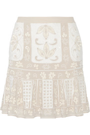 Needle & Thread Embellished chiffon mini skirt