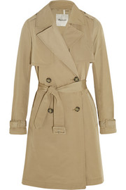 Parcel cotton-blend gabardine trench coat