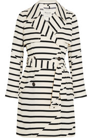 Parcel striped crepe trench coat
