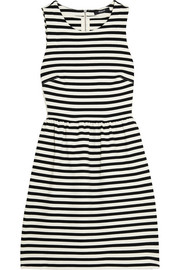Striped stretch-jersey mini dress