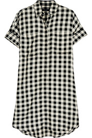 Checked twill shirt dress