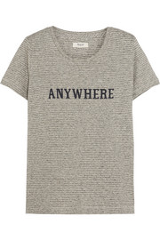 Anywhere printed hemp and cotton-blend jersey T-shirt