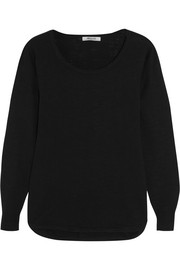 Slub cotton-blend sweater