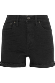 High Riser stretch-denim shorts