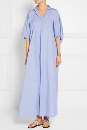 Lisa Marie Fernandez Two-tone cotton-chambray kaftan