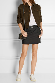 Saint Laurent Wool-crepe mini skirt