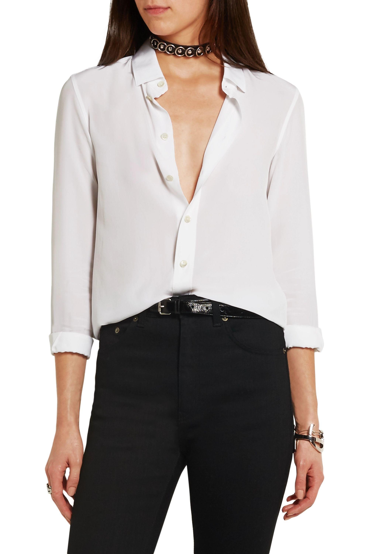 SAINT LAURENT Silk crepe de chine shirt