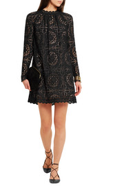 Temperley London Nomi crocheted lace mini dress