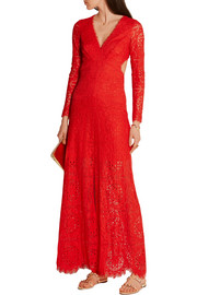 Temperley London Nomi cutout lace gown