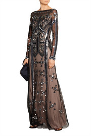 Temperley London Carly embellished tulle gown