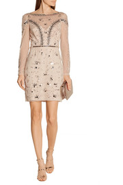 Temperley London Klementina embellished tulle mini dress