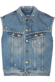 Steve studded denim vest